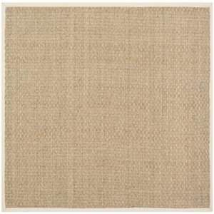 Safavieh Natural Fiber Natural and Beige Area Rug,NF114A-8SQ