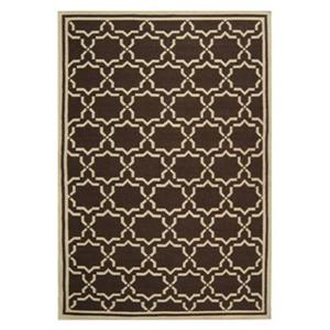 Safavieh Dhurries Chocolate and Ivory Area Rug,DHU545A-6