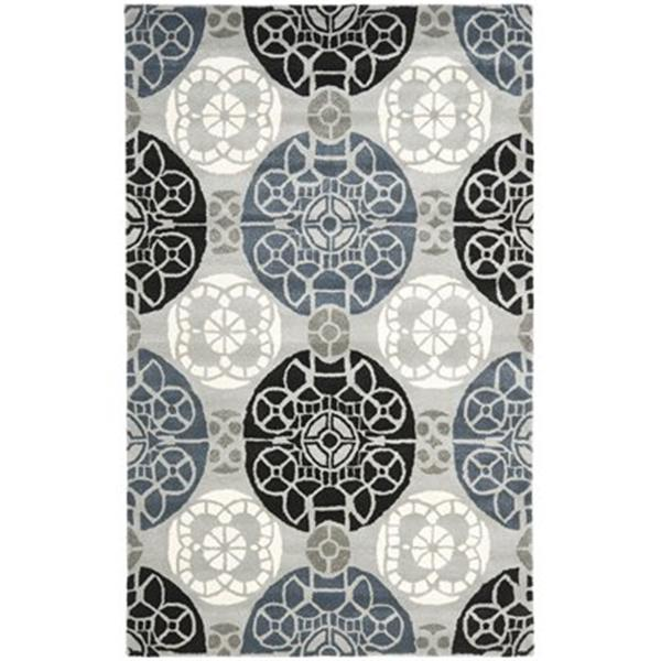 Safavieh WYD376D Wyndham Area Rug, Grey/Black,WYD376D-5