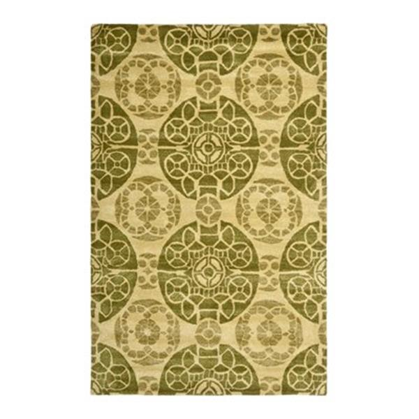 Safavieh WYD376L Wyndham Area Rug, Honey/Green,WYD376L-5