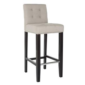 Safavieh Thompson 40.60-in Cream/Beige/Almond Bar Stool
