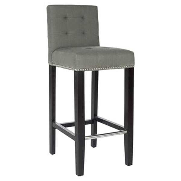 Safavieh Thompson 40.60-in Gray/Silver Bar Stool