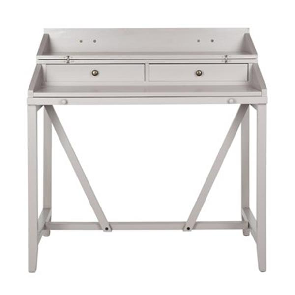 Safavieh Wyatt 22-in x 40.2-in Quartz Grey Writing Desk