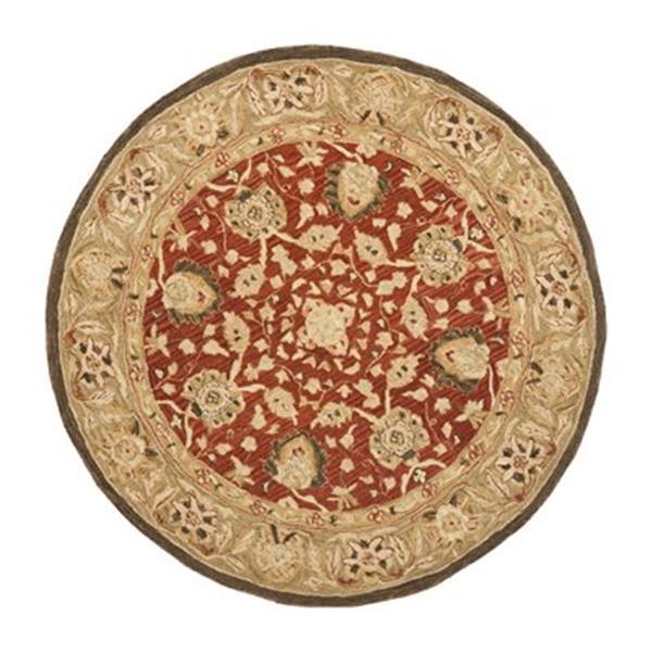 Safavieh AN512G Anatolia Area Rug, Rust / Green,AN512G-6R