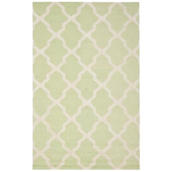 Safavieh Cambridge Light Green and Ivory Area Rug,CAM121B-5