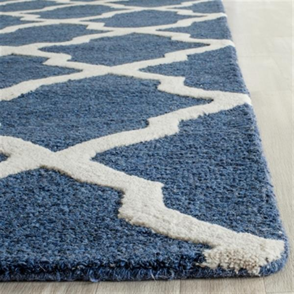 Safavieh Cambridge Navy Blue and Ivory Area Rug,CAM121G-5