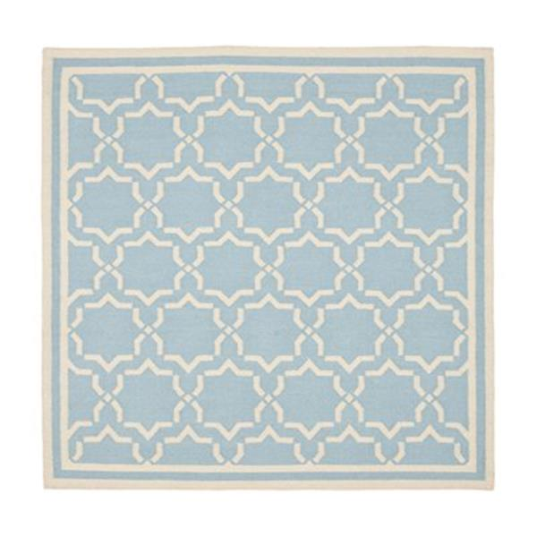 Safavieh Dhurries Light Blue and Ivory Area Rug,DHU545B-6
