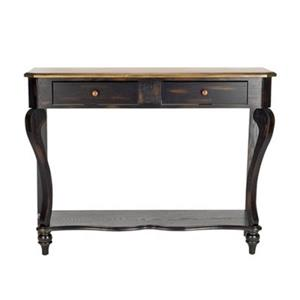 Safavieh Katie Rectangular 2 Drawers Dark Cherry Birch Wood Console Table