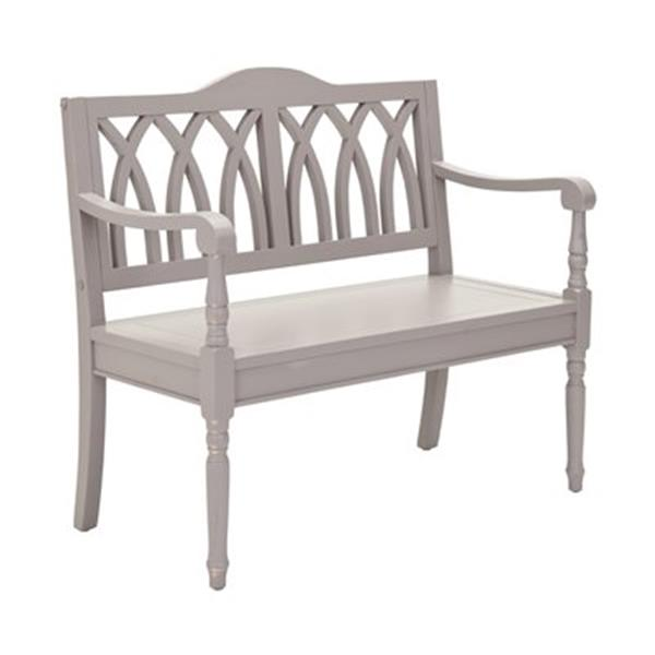 Safavieh Benjamin 36.00-in x 40.00-in Gray Indoor Accent Bench