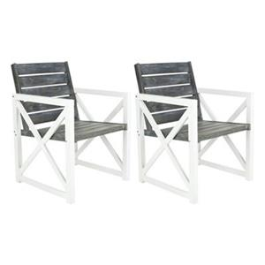 Safavieh FOX6701 Irina Armchairs (Set of 2),FOX6701A-Set2