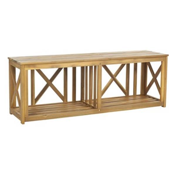 Safavieh Branco 18.1-in x 51.2-in Brown Bench
