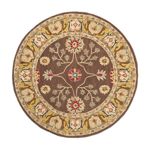 Safavieh AN562A Anatolia Area Rug, Brown / Gold,AN562A-6R