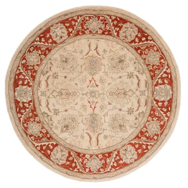 Safavieh Anatolia Taupe and Red Area Rug,AN569A-6R