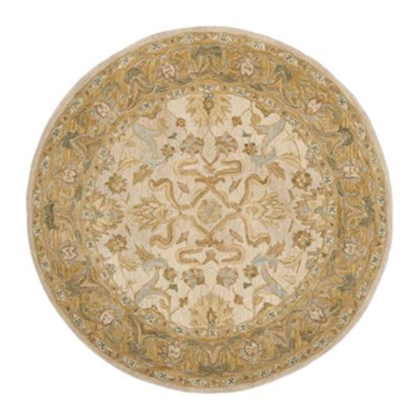 Safavieh Anatolia Ivory and Brown Area Rug,AN576B-6R