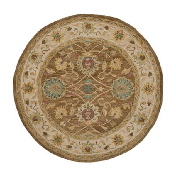 Safavieh AN580F Anatolia Area Rug, Brown / Ivory,AN580F-6R
