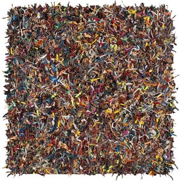 Safavieh Leather Shag Multi Area Rug,LSG511M-8SQ