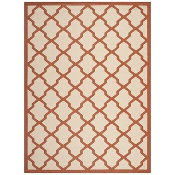 Safavieh CY6903-231 Courtyard Beige and Terracotta Area Rug,
