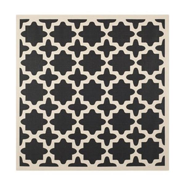 Safavieh Courtyard Black and Beige Area Rug,CY6913-266-8