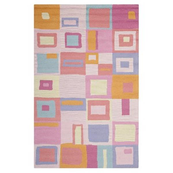 Safavieh Kids Pink and Multi-Colored Area Rug,SFK317A-5