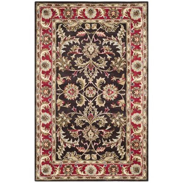Safavieh Heritage Chocolate and Red Area Rug,HG951A-5