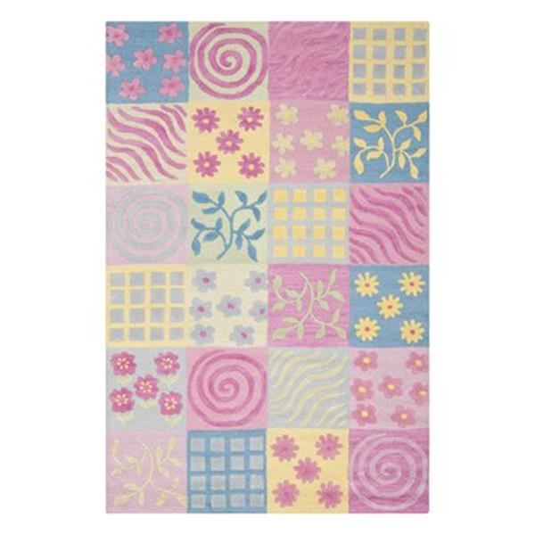 Safavieh Pink and Multi-Colored Kids Area Rug,SFK356A-5