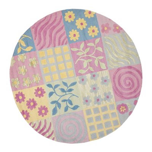 Safavieh Pink and Multi-Colored Kids Area Rug,SFK356A-6R