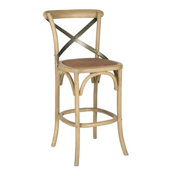 Safavieh Eleanor 38.6-in Oak Bar Stool