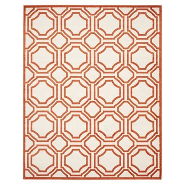 Safavieh Amherst Ivory and Orange Area Rug,AMT411F-8