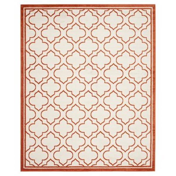 Safavieh AMT412F Amherst Ivory and Orange Area Rug,AMT412F-8