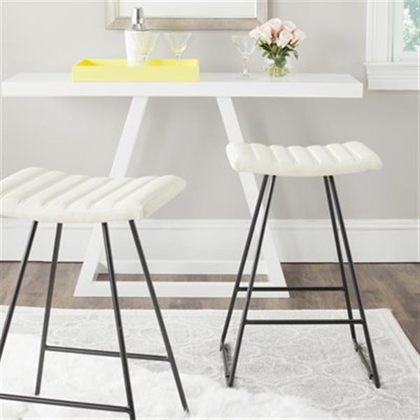 Safavieh Fox Akito 30-in Cream Bar Stools (Set of 2)