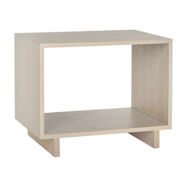 Safavieh Fox 18.9-in Grey Woodgrain Raylan Stand Table