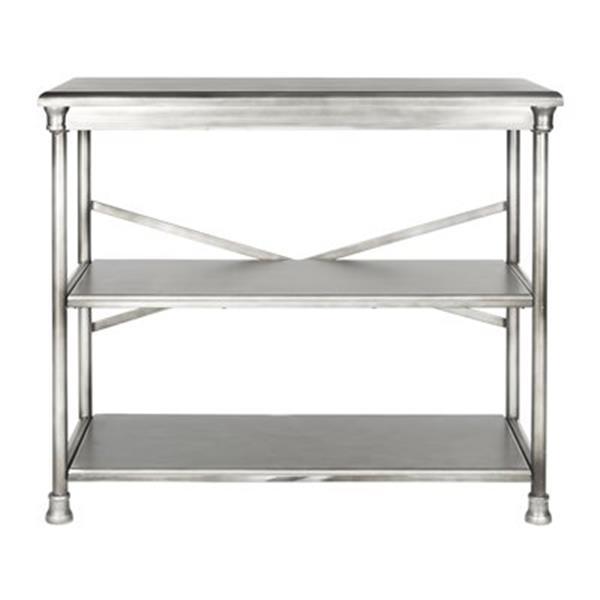 Safavieh American Home 32.5-in x 38.25-in Silver Jacinda Medium Bookcase