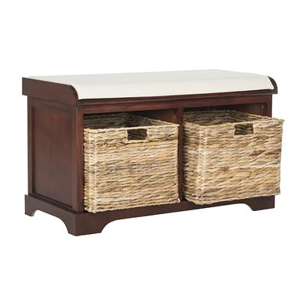 Safavieh American Home 19.90-in x 33.50-in Cherry Freddy Storage Bench