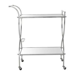 Safavieh Fox 33.5-in x 32.34-in Silver/Mirror Ignatius Bar Cart