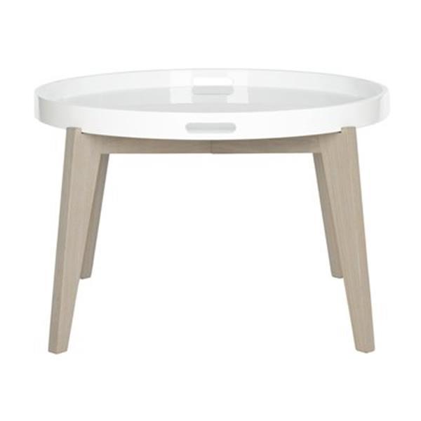 Safavieh Fox 18-in White/Grey Echo End Table