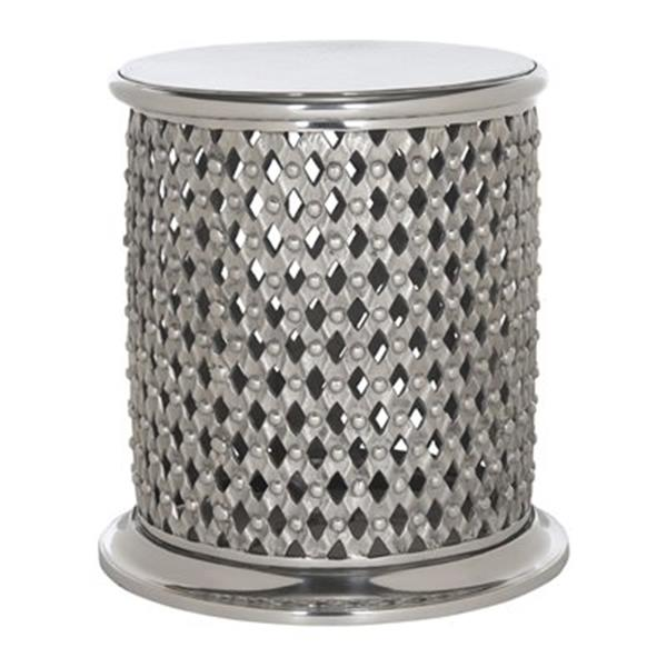 Safavieh Fox 21.6-in Silver Metal Lace Table Stool