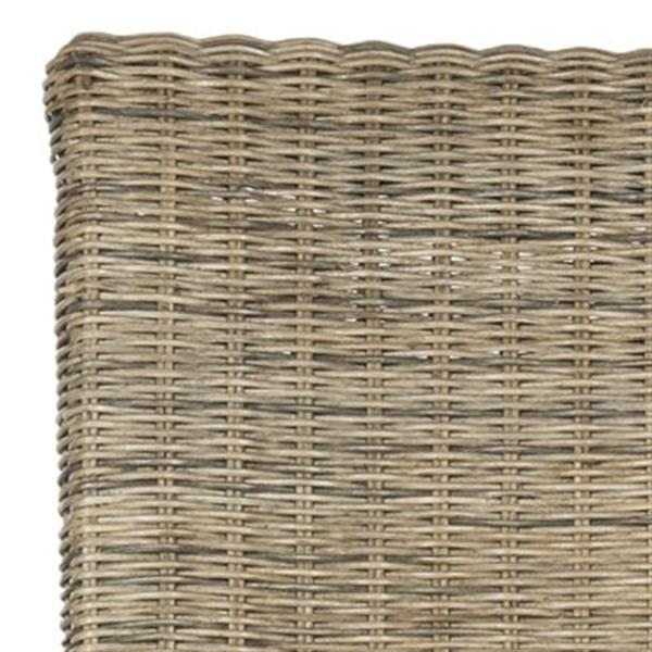 Safavieh Southeast Asia Arjun 18-in Natural Wicker Dining Chairs (Set of 2)
