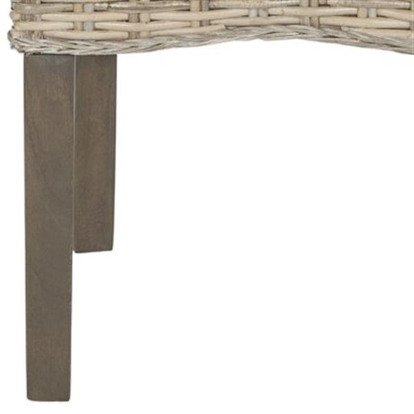 Safavieh Southeast Asia Ozias 19-in Natural Wicker Dining Chairs (Set of 2)