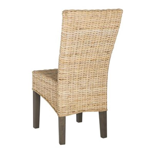 Safavieh Southeast Asia Ozias 19-in Light Natural Wicker Dining Chairs (Set of 2)