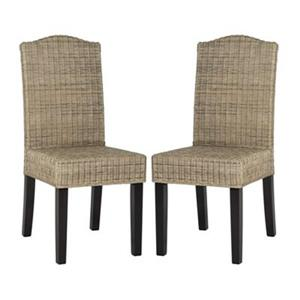 Safavieh Southeast Asia Odette 19-in Natural Wicker Dining Chairs (Set of 2)