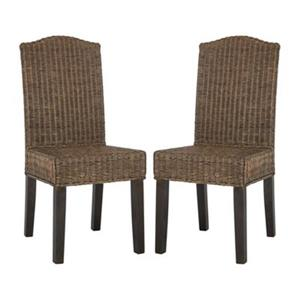 Safavieh Southeast Asia Odette 19-in Brown Wicker Dining Chairs (Set of 2)