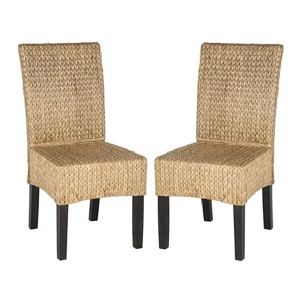 Safavieh Southeast Asia Luz 18-in Natural Wicker Dining Chairs (Set of 2)