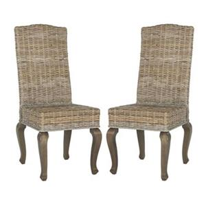 Safavieh Southeast Asia Milos 18-in Natural Wicker Dining Chairs (Set of 2)