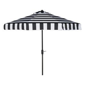 Safavieh Elsa 9-ft Black/White Striped Market Style Patio Umbrella