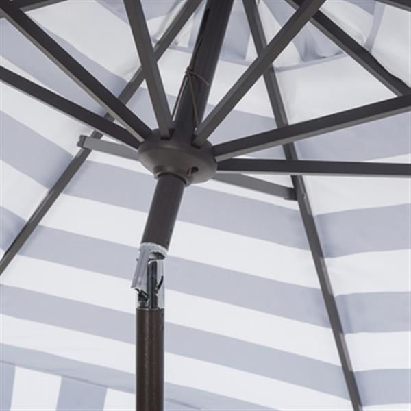 Safavieh Elsa 9-ft Navy/White Striped Market Style Patio Umbrella