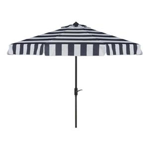 Safavieh Elsa 9-ft Navy/White Striped Market Style Patio Umbrella
