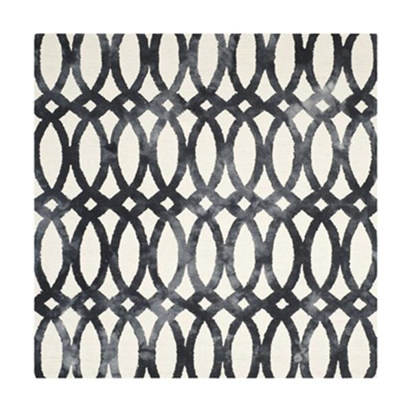 Safavieh Dip Dye Hand-Tufted Wool Ivory and Graphite Area Ru