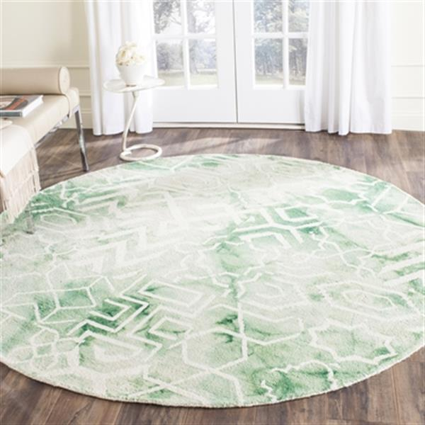 Safavieh Dip Dye Hand-Tufted Wool Green and Ivory Area Rug,D