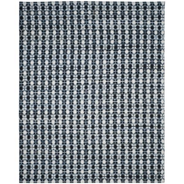 Safavieh Montauk Flat Weave Ivory Blue and Black Area Rug,MT