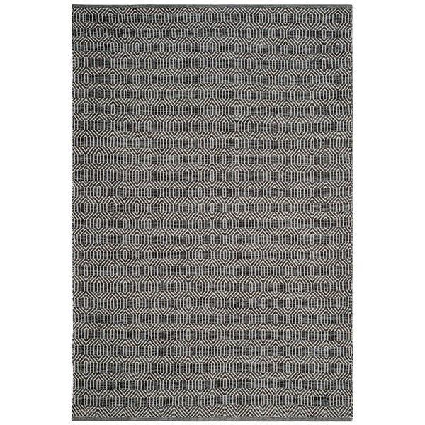 Safavieh Montauk Flat Weave Ivory and Dark Grey Area Rug,MTK